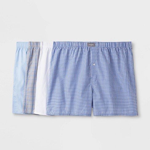 Men's Big & Tall 4pk Woven Boxer Shorts - Goodfellow & Co™ - image 1 of 2