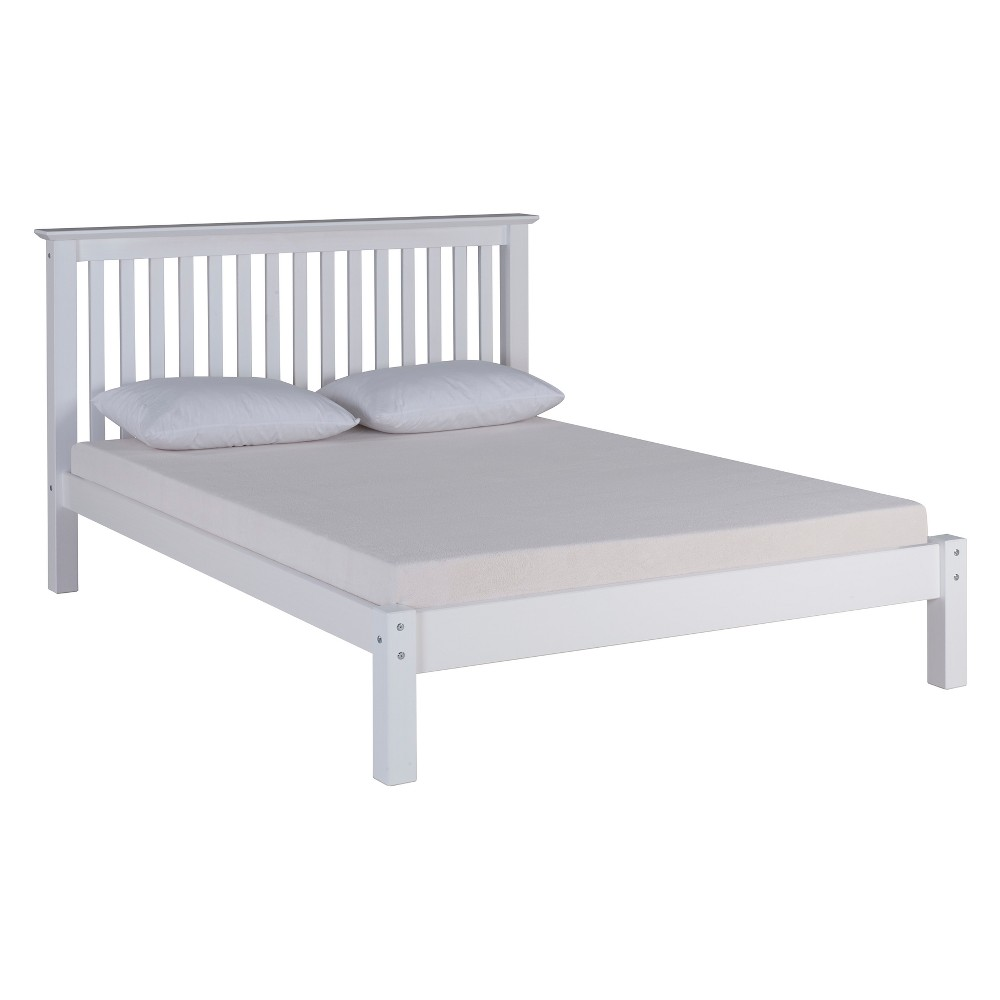 Image of Barcelona Queen Bed White - Bolton Furniture