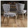 Bates Tufted Dining Chair Set 2ct - Christopher Knight Home - image 4 of 4