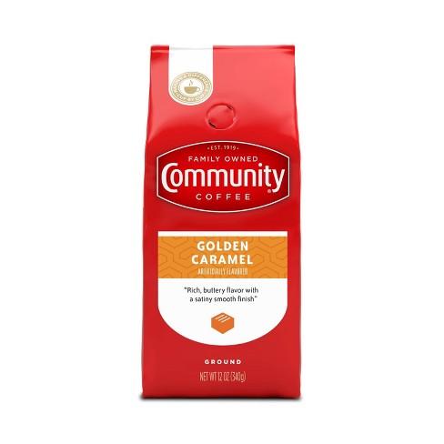 Community Coffee Golden Caramel Medium Dark Roast Ground Coffee - 12oz - image 1 of 4