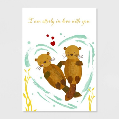 Papyrus Otterly In Love Valentine's Day Greeting Card - image 1 of 4