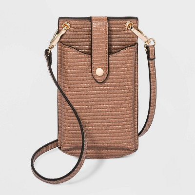 Snap Closure Crossbody Bag - A New Day™ Caramel