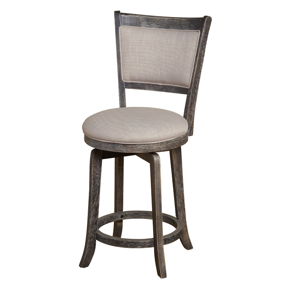 "Image of ""22"""" French Country Swivel Stool - Weathered Gray - Buylateral"""