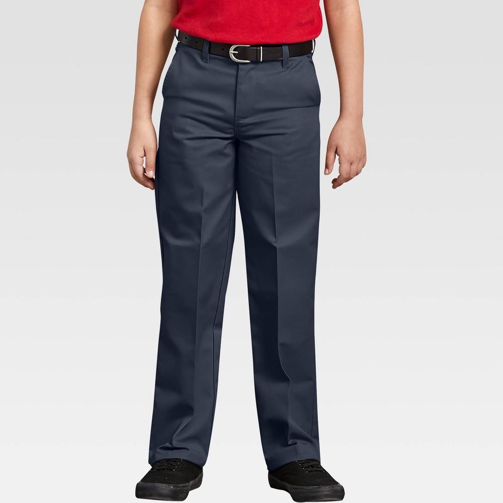 Dickies Boys Flat Front Uniform Chino Pants Dark Navy 6