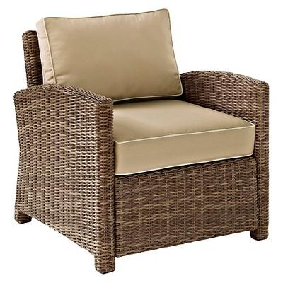Crosley Bradenton Outdoor Wicker Arm Chair - Sand