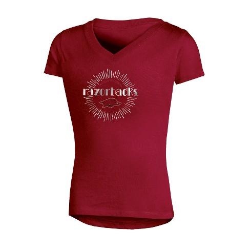 NCAA Girl's V-Neck T-Shirt Arkansas Razorbacks - image 1 of 1