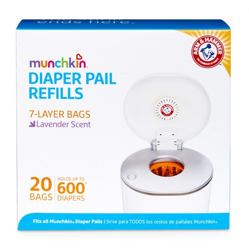 Munchkin Arm & Hammer Diaper Pail Snap, Seal and Toss Refill Bags, 600ct, 20pk - image 1 of 4