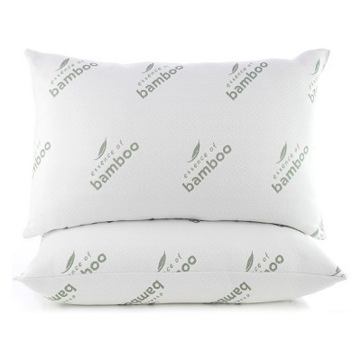 Essence of Bamboo Jumbo 2pc Knit Pillow White