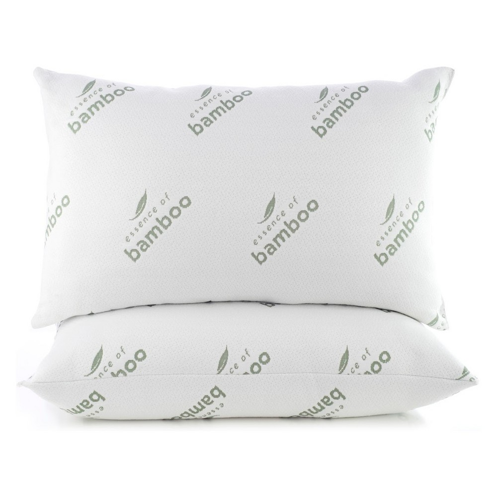 Image of Essence of Bamboo Jumbo 2pc Knit Pillow White
