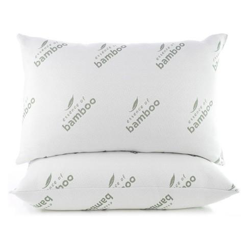 Essence Of Bamboo Jumbo 2pc Knit Pillow White Target