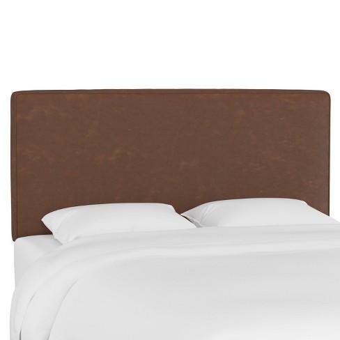 Queen Box Seam Headboard Sonoran Chocolate - Skyline Furniture - image 1 of 4