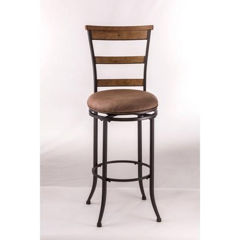 "Charleston Swivel Ladder Back 26"" Counter Stool Metal/Tan - Hillsdale Furniture - image 1 of 4"