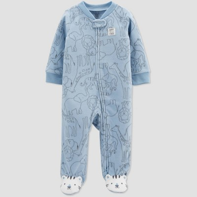Baby Boys' Animals Fleece Sleep N' Play - Just One You® made by carter's Blue Newborn