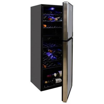 Koolatron 45-Bottle Dual-Zone Wine Cooler - Black