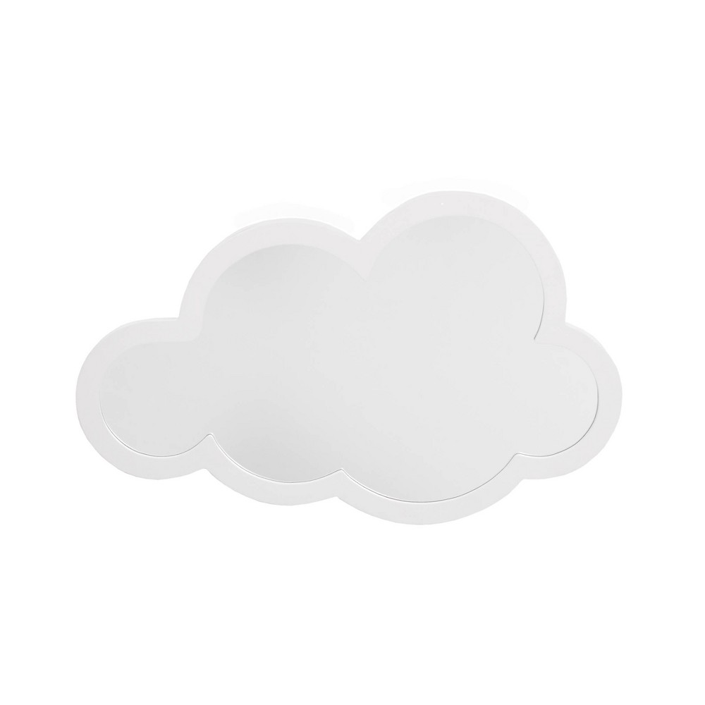 Image of NoJo Little Love White Cloud Shaped Wooden Decorative Mirror