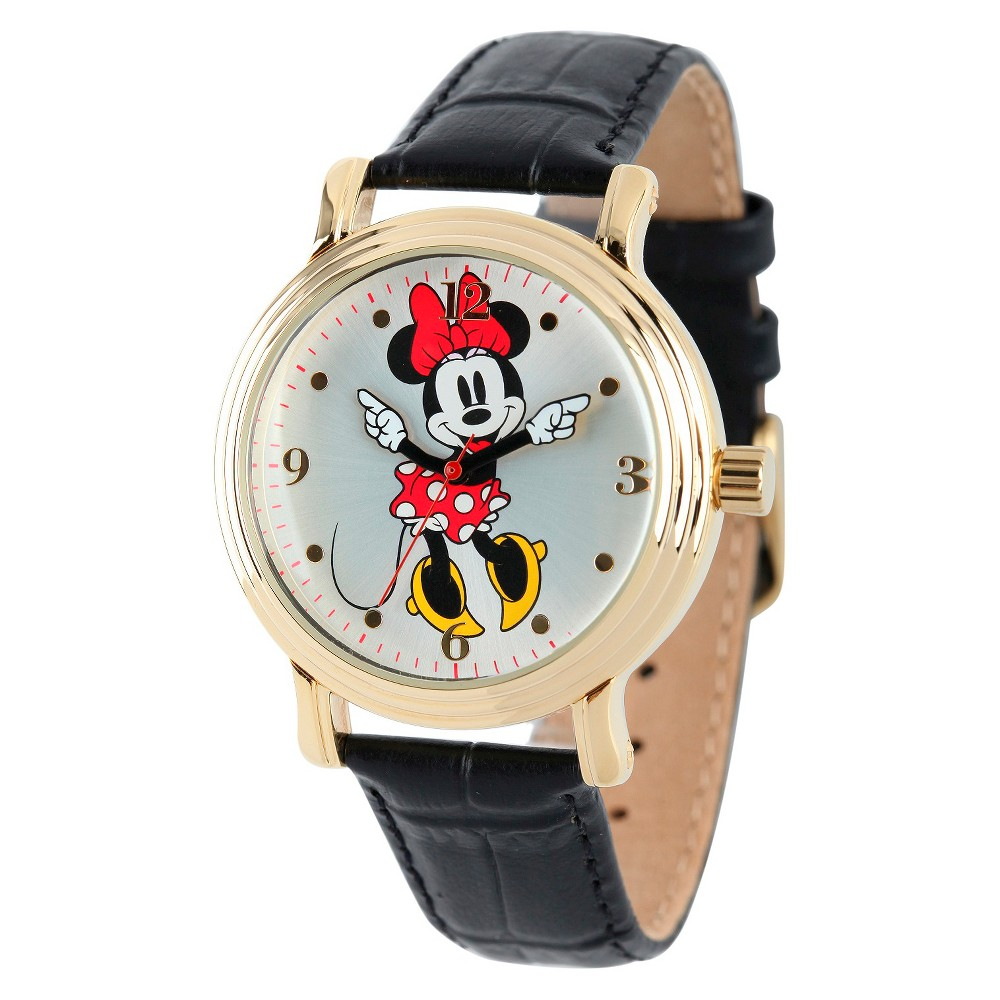 Women's Disney Minnie Mouse Shinny Vintage Articulating Watch with Alloy Case - Black