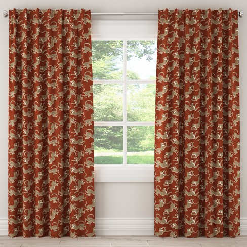 Unlined Curtain Leopard Run Burnt Orange - Skyline Furniture - image 1 of 5