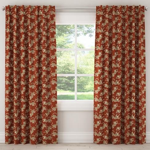 Blackout Curtain Leopard Run Burnt Orange 63L - Cloth & Co. - image 1 of 6