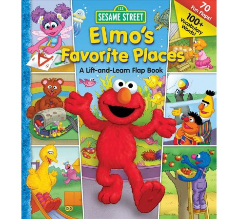 Elmo's Favorite Places -  (123 Sesame Street) by Carol Monica (Hardcover) - image 1 of 1