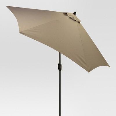 9' Round Patio Umbrella DuraSeason Fabric™ - Black Pole - Threshold™