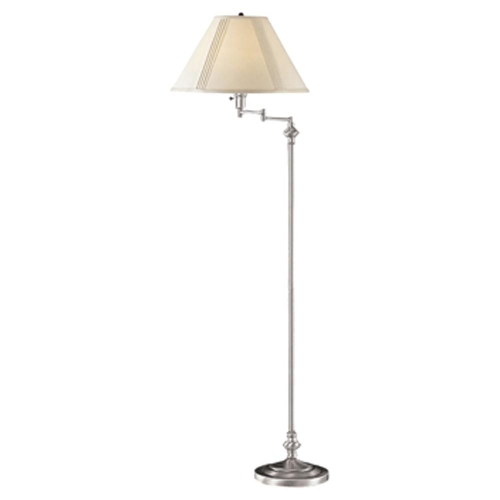 Image of 3-way Swing Arm Brushed Steel finish Metal Floor Lamp - Cal Lighting