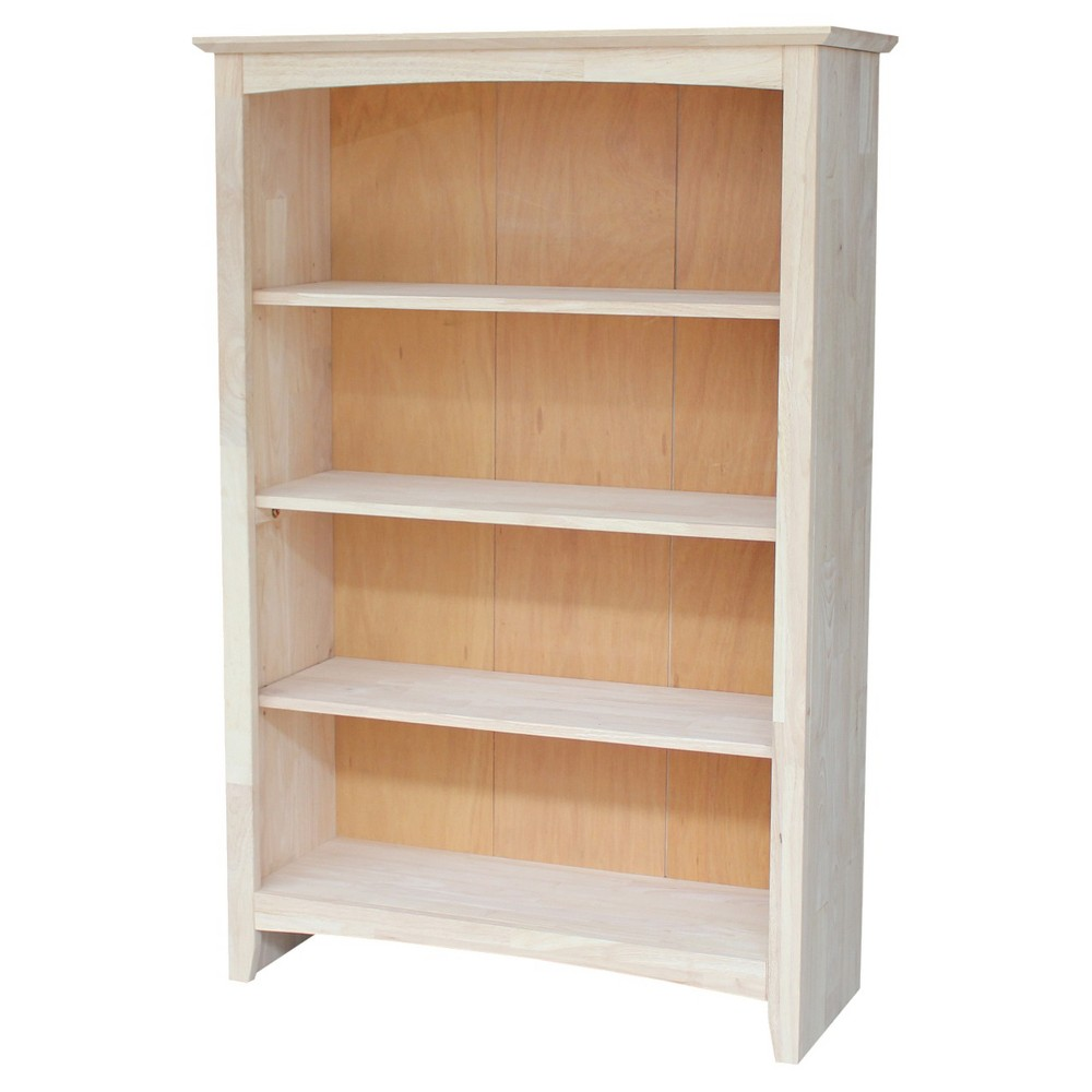 Shaker 48 Bookcase Unfinished - International Concepts
