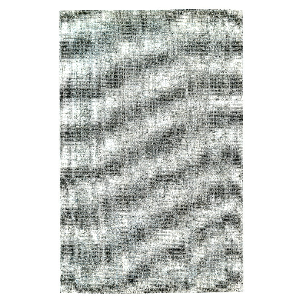 5'X8' Solid Woven Area Rugs Ice (White) - Room Envy