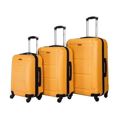 InUSA Pilot Lightweight Hardside Spinner 3pc Luggage Set - Mustard