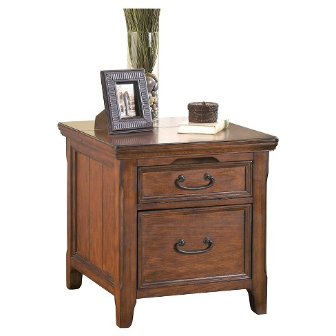 Woodboro Media End Table Dark Brown - Signature Design by Ashley - image 1 of 4