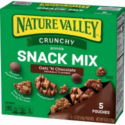 Nature Valley Crunchy Oats 'N Chocolate Granola Snack Mix - 5ct