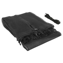 UpperBounce Trampoline Replacement Enclosure Safety Net for 15' Round Frames - Black