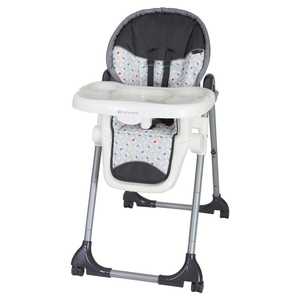 Image of Baby Trend Deluxe 2-in-1 High Chair - Diamond Geo, Black