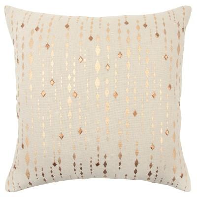 Stripe Diamond Oversize Square Throw Pillow Gold - Rizzy Home