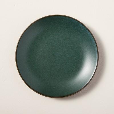 Stoneware Exposed Rim Appetizer Plate Dark Green - Hearth & Hand™ with Magnolia