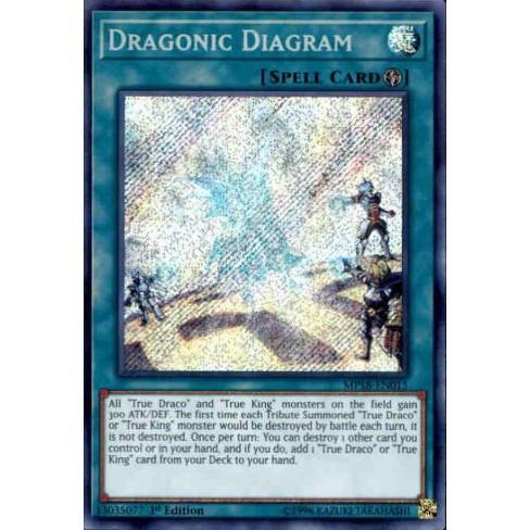 Dragonic Diagram Mint Card! MP18 Mega Tins 2018 Secret Rare YuGiOh