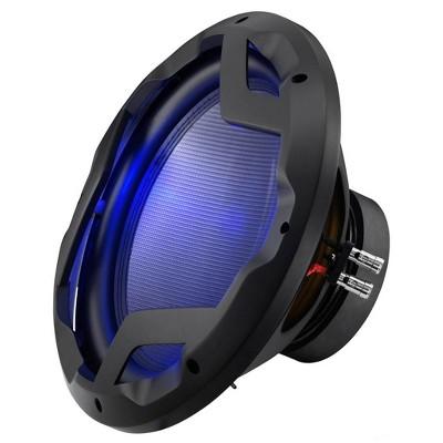 Boss Audio Systems PD12LED Phantom 12 Inch 1600 Watt 4 Ohm Aluminum Dual Voice Coil Car Audio Stereo Subwoofer Speaker with Blue LED Illumination