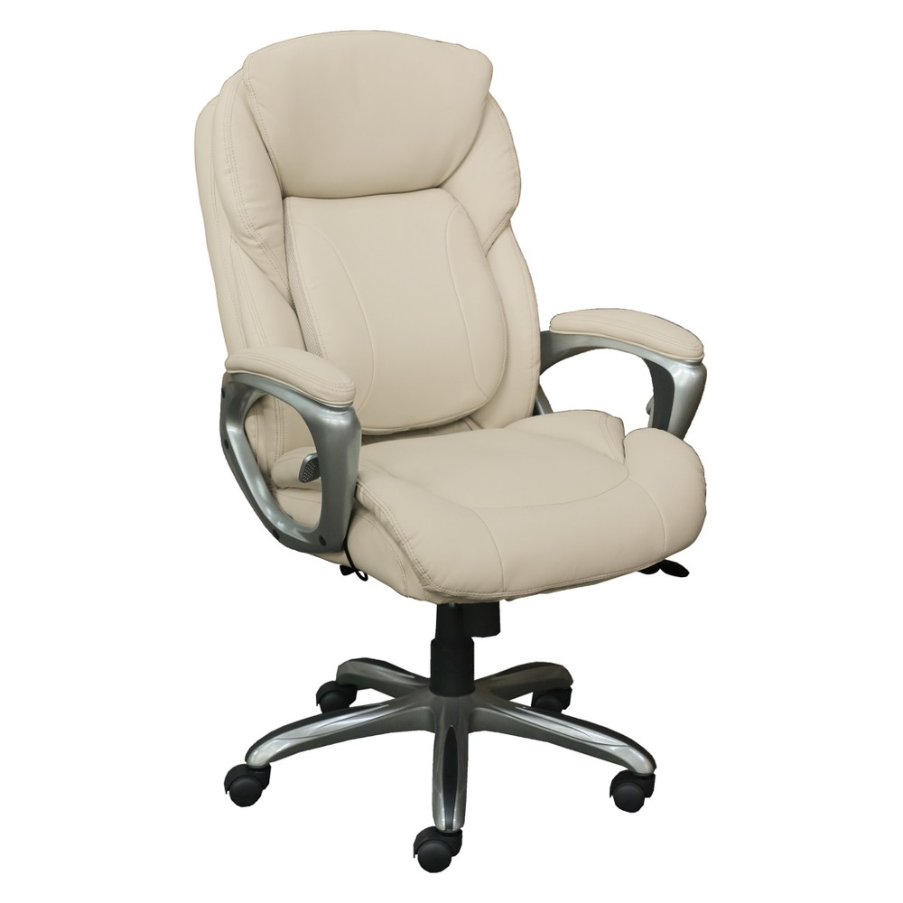 Works My Fit Executive Office Chair with Tailored Reach Inspired Ivory - Serta