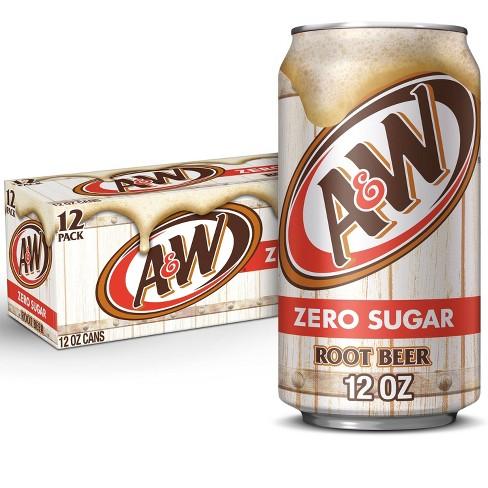 A&W Root Beer Zero Sugar Soda - 12pk/12 fl oz Cans - image 1 of 4