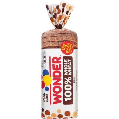 Wonder 100% Whole Wheat Sliced Bread - 16oz