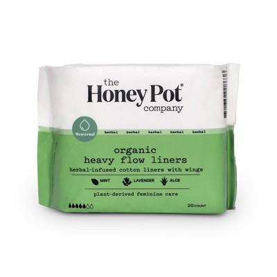 The Honey Pot Heavy Flow Organic Cotton Pantiliner - 20ct