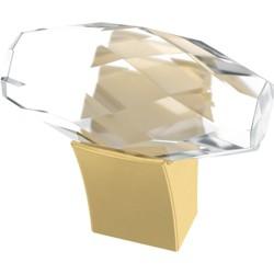 """Franklin Brass P40857K Cut Glass 1-1/2"""" Bar Cabinet Knob"""