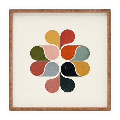 "13"" Wood Showmemars Abstract Modern Art Small Square Tray - society6"