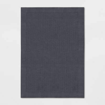 7'X10' Basket Weave Solid Tufted Area Rug Gray - Made By Design™