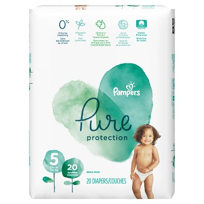 Pampers Pure Protection Diapers Mega Pack - Size 5 (20ct)