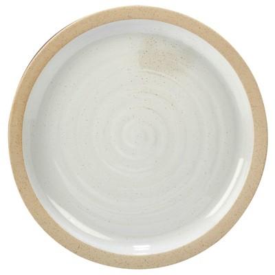Certified International Artisan Ceramic Serving Platter 14  - White/Brown