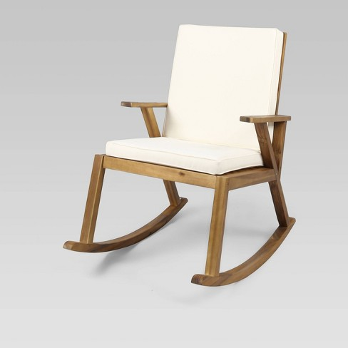 Champlain Acacia Wood Patio Rocking Chair - Christopher Knight Home - image 1 of 4