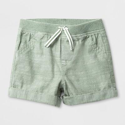 Baby Boys' Pull-On Shorts - Cat & Jack™ Olive 0-3M