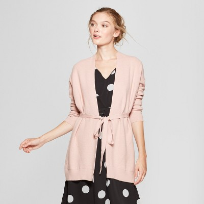 Women s Belted Open Cardigan Sweater – A New Day™ Pink M – Target ... 099306fe2