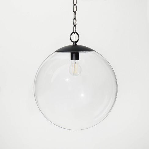 Glass Ceiling Pendant Black - Threshold™ designed with Studio McGee - image 1 of 4