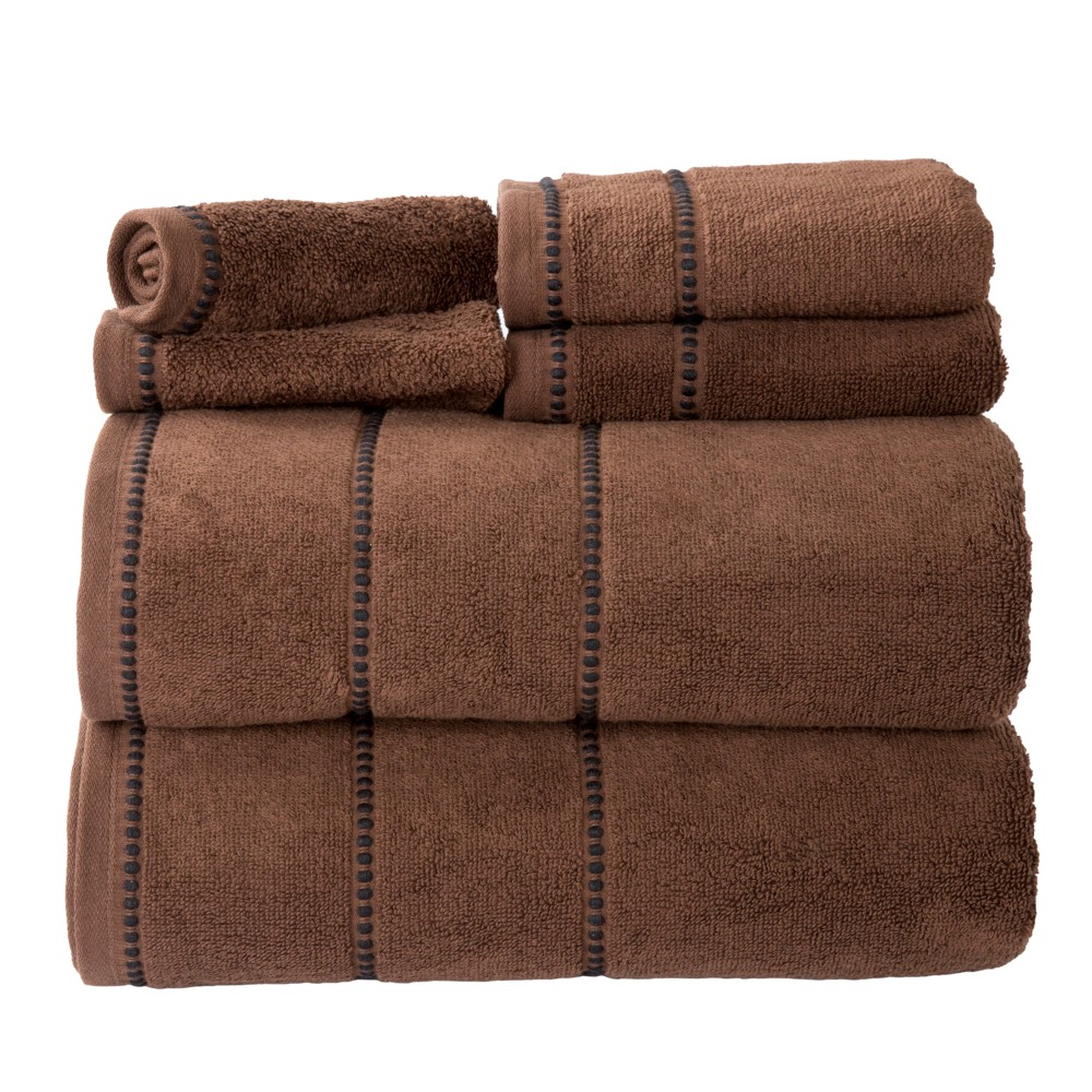 Solid Bath Towels And Washcloths 6pc Chocolate (Brown) - Yorkshire Home